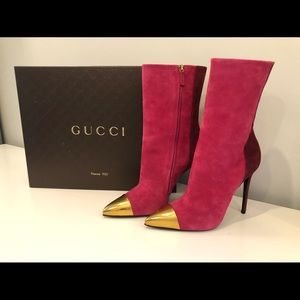 Brand new Gucci suede heel boots